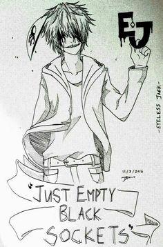 Just Empty Sockets, Eyeless Jack, text; Creepypasta