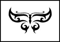 Tribal Butterfly by PurrpleCatt.deviantart.com on @deviantART