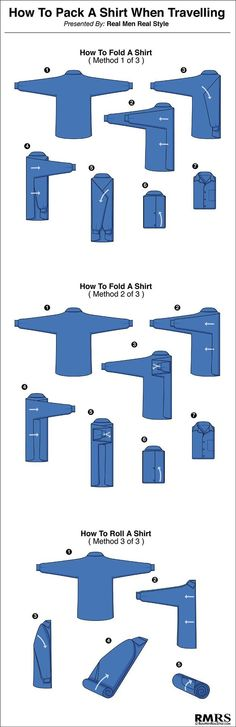 How to fold your #shirts while travelling!