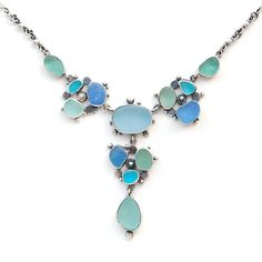 Sea Glass Mermaid Necklace by Tania Covo