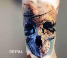 Skull tattoo by Victor Zetall