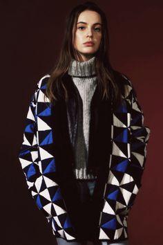 Courtshop Cleo jeans,: $135 at Courtshop J.Crew chunky turtleneck sweater,: $108 at J.Crew Wilfred Free Magadalena jacket,: $495 at Aritzia Etoile Isabel Marant Enid geometric coat,: $665 at Isabel Marant stores