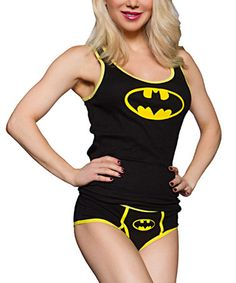 Batman Ribbed Tank & Briefs - Women by Batman #zulily #zulilyfinds