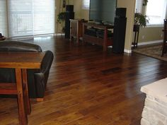 BuildDirect – Engineered Hardwood - Handscraped Mixed Widths Collection  – Hickory Sierra - Living Room View