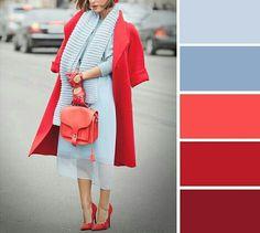 в 2019 г. Colour Combinations Fashion, Color Combinations For Clothes, Color Blocking Outfits, Fashion Colours, Colorful Fashion, Color Combos, Color Schemes, Colour Pallette, Color Pairing