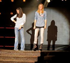 Mary Sinatsaki and Vicky Kaya rehearsing on the stage of MadWalk 2013 by Coca-Cola light