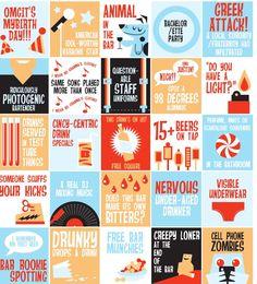 Pub crawl bingo card