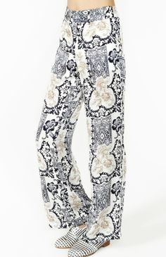 Printed High Waisted Pants -- found on BIBANDTUCK.COM #Flow