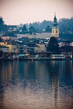 Gmunden, Austria is on the Saizkammergut cycling route through the lakes district. Scenic area.