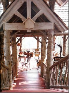 Image detail for -mountain cabin porch