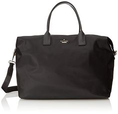 Women's Shoulder Bags - kate spade new york Classic Nylon Lyla Carry On Black One Size *** You can find out more details at the link of the image.