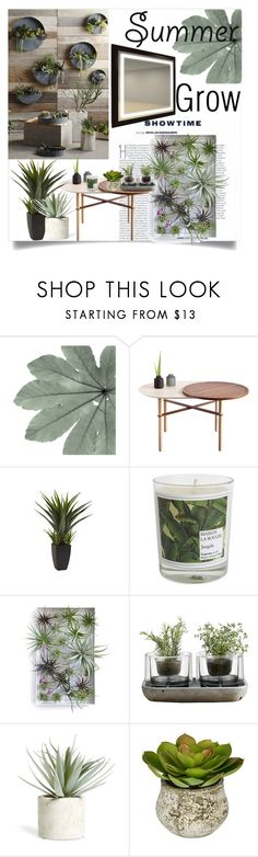 """""""Summer Grow"""" by clotheshawg ❤ liked on Polyvore featuring interior, interiors, interior design, home, home decor, interior decorating, Nearly Natural, Maison La Bougie, Nude and Allstate Floral"""