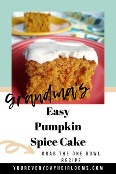 Pumpkin Spice Cake with Cream Cheese Frosting – Your Everyday Heirlooms
