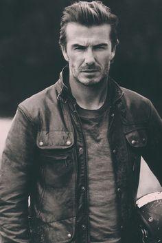 Classic. @belstaff aaron-symons:  David Beckhamfor Belstaff The Legend ContinuesBELSTAFF.COM