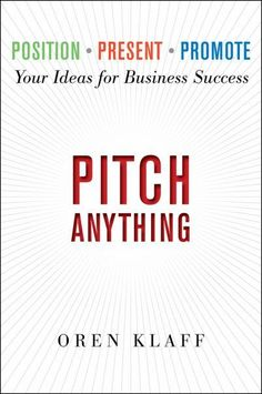 Pitch Anything by Oren Klaff