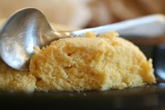 Low Carb Gluten Free Microwave Lemon Cake - moist and springy, using coconut and almond flour - Net Carbs: 1.8g (I think carb count might include a bit of orange juice, so may be able to reduce that count.....?