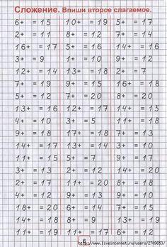 Number Worksheets Kindergarten, Math Worksheets, Math Activities, Class 1 Maths, Russian Language Lessons, Math Websites, Niklas, Math Sheets, Study Skills