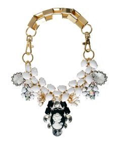 Necklace with white