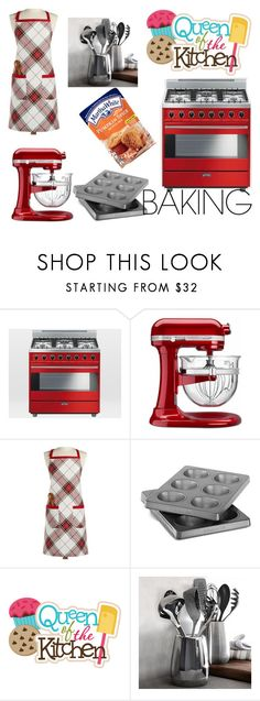 """""""Baking"""" by tokkie-leen ❤ liked on Polyvore featuring interior, interiors, interior design, home, home decor, interior decorating, West Elm, Frontgate, Martha Stewart and KitchenAid"""