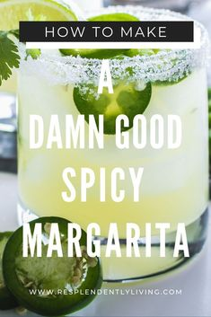 How to Make a Damn Good Spicy Margarita — This Is Mel Drake Looking for an easy delicious cocktail to serve at your next party? This easy spicy margarita recipe is just the perfect mix of sweet and spice. Mango Margarita, Spicy Margarita Recipe, Margarita On The Rocks, Margarita Cocktail, Skinny Margarita Recipes, Margarita Party, Jalapeno Drink Recipe, Marg Recipe, Recipes