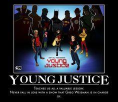 Young Justice Demotivational by jswv.deviantart.com on @DeviantArt