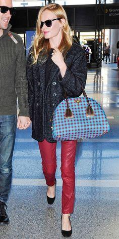 Kate Bosworth - Isabel Marant Tweed Jacket, Prada bag.