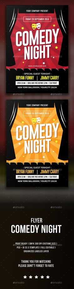 Stand Up Comedy Poster Font logo, Fonts and Logos - comedy show flyer template
