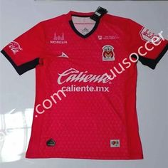 2016-17 Monarcas Morelia Away Red Thailand Soccer Jersey AAA