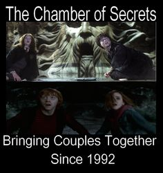 Chamber of Secrets: Bringing couples together since 1992  Lol so true