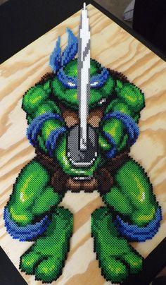 TMNT Leonardo Perler Art (30 inches) by kamikazekeeg on deviantART