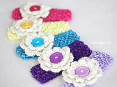 Repeat Crafter Me: Crochet Hair Clips