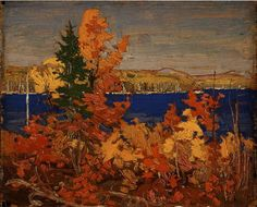 Autumn Foliage, Tom Thomson ,Art Gallery of Alberta ,Oil on panel, x Group Of Seven Art, Group Of Seven Paintings, Canadian Painters, Canadian Artists, Klimt, Art Gallery Of Alberta, Tom Thomson Paintings, Hand Painted Toms, Catalogue Raisonne