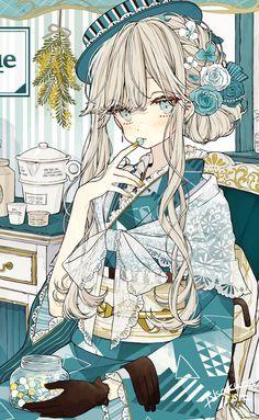 Anime Chibi, Fanarts Anime, Anime Characters, Cool Anime Girl, Beautiful Anime Girl, Anime Art Girl, Anime Girls, Manga Kawaii, Kawaii Anime Girl