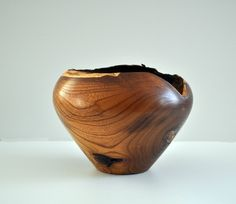 Turned Wood Vase