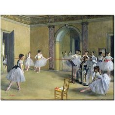 Trademark Fine Art The Dance Foyer, 1872 inch Canvas Art by Edgar Degas, Size: 24 x 32, Multicolor