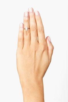 Cross Knuckle Ring in Silver