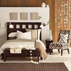 Dormitorio cama marron