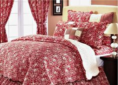 Image detail for -Albemarle French Country Red and Ivory Toile Quilt Sham
