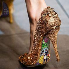 """Beauty and the Beast"" high heels | ashtonatelier"