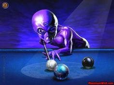 Maximum Wall.com | Alien and Billiards