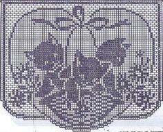 VTG häkeln Muster 2125 Stuhl set Filet häkeln Korb von Kätzchen Instant PDF-Download der 1950er Jahre