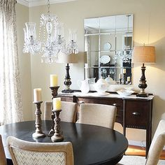 The benefit of DIY decoris that it can be customized to fit your style and space. This blogger shares two variations of a largePottery Barn-style mirror-- framed and frameless. Both budget versions are composed of beveled mirror panels that make the final result look just as expensive as the original.