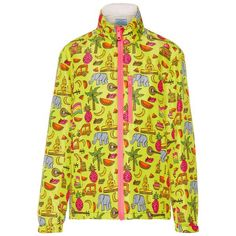 Check out this product: Prada - Hooded Printed Silk-faille Jacket - Yellow #villoid