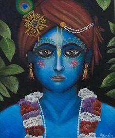 Size: 16x20 In Medium: Oil Color Surface: Canvas Board Artwork: Original Sweet Lord, Krishna Painting, Radhe Krishna, Canvas Board, Lord Krishna, Buy Paintings, Ganesha, Artist, Goal