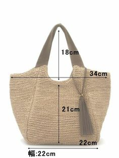 Discover thousands of images about Resultado de imagem para crochet bag mother heat Tote measurements Tote measurements The post Tote measurements appeared first on Daily Shares. roomy with great style - 2019 Caslon® Stripe Crochet Straw S Michael Kors J Bag Patterns To Sew, Tote Pattern, Sewing Patterns, Handbags Michael Kors, Tote Handbags, Diy Sac, Crochet Handbags, Crochet Bags, Craft Bags