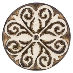 Get Brown & Cream Flower Scroll Knob online or find other Knobs products from HobbyLobby.com