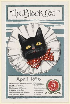 The black cat, April 1896. by Boston Public Library, via Flickr