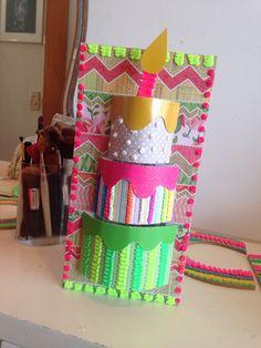 DohVinci - diy - creations - expresa tu estilo en 3D! - birthday card with DV - maco brunet