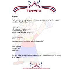 Farewells.