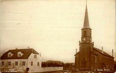 Nordland fylke Bodø. Kirken og annet stort hus. Glanset. Brukt 1915. Utg C.A.Erichsen